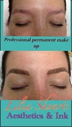 Eyebrows simulation (permanent make up procedure)
