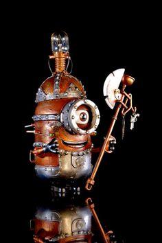 Steampunk Minion by Dame Berta http://goo.gl/PnY3RK