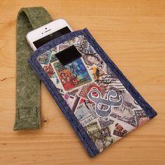 Vyrobte si orginální filcové pouzdro na mobil s aplikacemi | Davona výtvarné návody