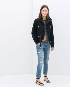 Image 1 of JACKET WITH ZIPS from Zara