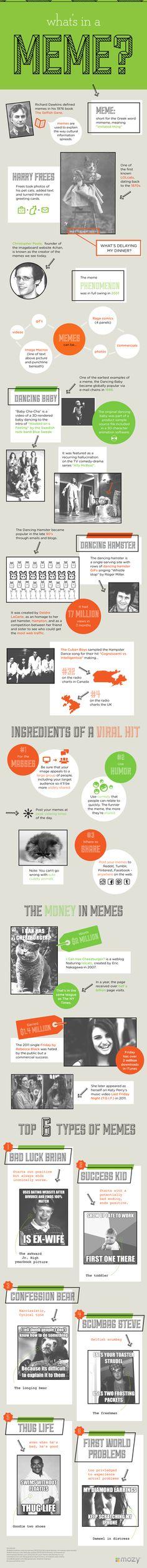 Qué es un meme? - #infografiía / What`s in a meme? - #infographic