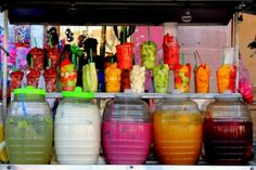Yummy Mexican drinks & fruit cocktails