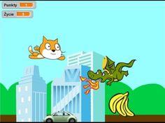 Latający kot - Gra w Scratch - poradnik Lisa Simpson, Internet, Youtube, Character, Lettering, Youtube Movies