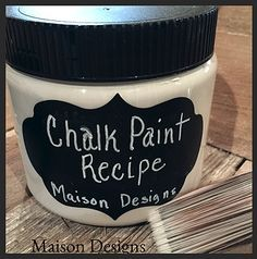 A safe and easy way to make your own Chalk Paint! This recipe is the best I have found for making your own Chalk Paint. It will give you a professional finish to your furniture and save you money. Learn tips and tricks to chalk painting your furniture too!