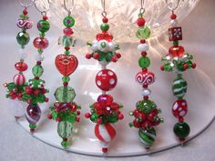 whimsical christmas ornaments.....  This would be great for those talented teens to make!