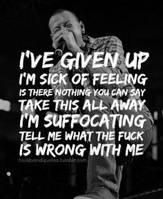 Risultati immagini per linkin park quotes Music Quotes, Music Lyrics, Linkin Park Given Up, Music Love, Music Is Life, Linkin Park Wallpaper, Linking Park, Park Quotes, Linkin Park Chester