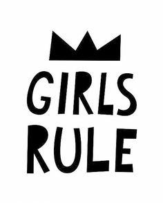 Mini Learners girls rule poster A3