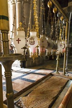 Stone of Unction, Church of the Holy Sepulchre, Old City, Jerusalem, UNESCO World Heritage Site, Israel