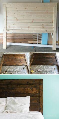 Make your own DIY rustic headboard - AndreasNotebook.com #ad