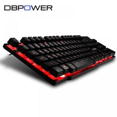 Cheap keyboard gamer led, Buy Quality gaming keyboard english directly from China gamer keyboard led Suppliers: DBPOWER Russian / English 3 Color Backlight Gaming Keyboard Teclado Gamer Floating LED Backlit USB with Similar Mechanical Feel Laptop Computers, Computer Keyboard, Gaming Computer, Computer Mouse, Usb, Led Backlight, Russian Keyboard, Gamers, Tecnologia