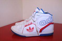 Adidas Shoes 7.5 Red Blue Ecstasy Mid Sleek Series Vtg Multi Trainers G51414  #Adidas #MidHighTop