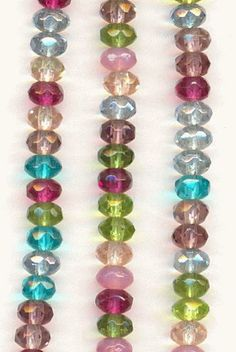 On sale this week! Faceted glass beads in spring/summer colors!