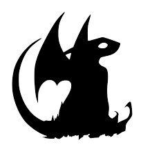 Resultado de imagem para silhouette templates dragon