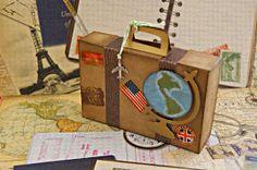 Infinity: Maleta Vintage (Travel Theme) Diy Paper, Paper Crafts, Wedding Icon, Wedding Ideas, Scrapbook Albums, Scrapbooking, Travel Themes, Design Crafts, Mini Albums