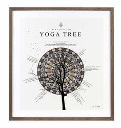 Yoga Tree Illustration by ohsofine.dk