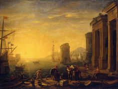 Claude Lorrain Paintings | Not a Hipstamtic image, this is a Claude Lorrain painting.