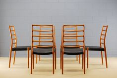 Set of 6 Danish Teak Dining Chairs Moller Model 82 on Etsy, $2,849.00
