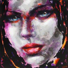Berto – 772 – 100x100cm Portraits, Les Oeuvres, Contemporary Art, Artwork, Painting, Woman Face, Contemporary, Canvas, Artist