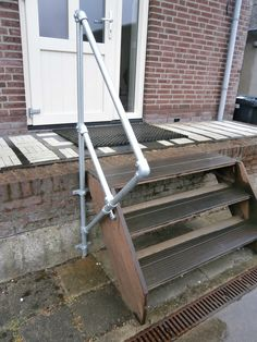 Pipe Railing, Scaffolding, Ladder, Building, Inspiration, Home And Living, Pipes, Shelves, Biblical Inspiration