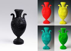 Michael Eden - maker - 3D printer ceramics - Tall Bloom