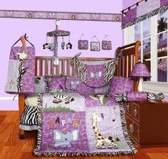 SISI Baby Girl Boutique - Safari 15 PCS Crib Bedding