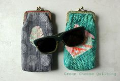 * Glasses cases by Green Cheese Quilting for the Umbrella Prints Trimmings Competition 2014; made from one packet of Umbrella Prints fabric Trimmings www.umbrellaprints.bigcartel.com