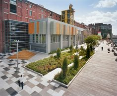Boston Children's Museum, Boston, Massachusetts  Michael Van Valkenburgh Associates, Inc., Landscape Architects, Cambridge, Massachusetts  client: Boston Children's Museum  (Photo: Elizabeth Felicella)