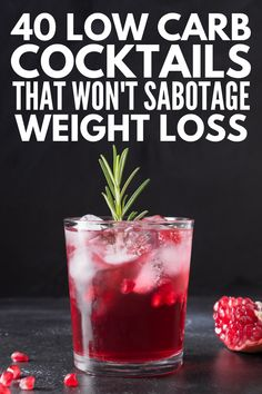 Weight Loss and Alcohol: 40 Low Carb Cocktails to Indulge In Low Carb Cocktails, Low Calorie Alcoholic Drinks, Alcholic Drinks, Healthy Cocktails, Alcoholic Beverages, Christmas Drinks Alcohol, Holiday Drinks, Rum, Alcohol Drink Recipes