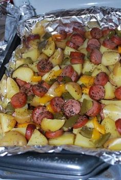Smoked Sausage and Potato Bake
