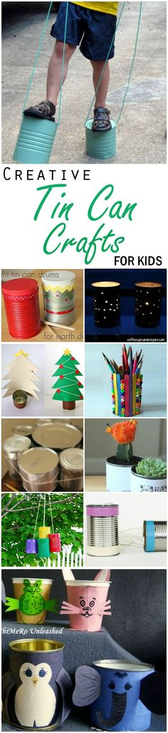 In the first of this series, we bring you ten tin can craft ideas for kids. Tins are found in just about every household. Combine those with a rope, paints, craft papers and a generous helping of crazy imagination, and you will have a winner on your hands.
