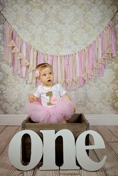 Precious photo props for her baby first birthday photo shoot or smash cake session - keepsake pearls that she can wear now & then use on her bridal bouquet for her wedding. ♥