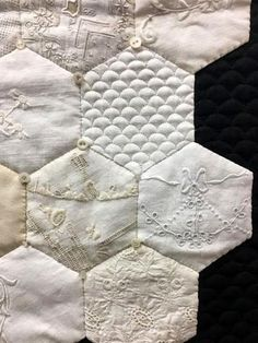 – Page 2 – Cindy Needham Quilting Tips, Quilting Tutorials, Machine Quilting, Quilting Projects, Quilting Designs, Hexagon Patchwork, Patchwork Quilting, Hexagon Quilt Pattern, Hexagon Quilting