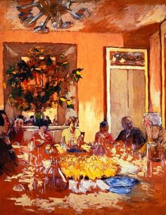 Luncheon at Les Clayes-c.1937 by Edouard Vuillard