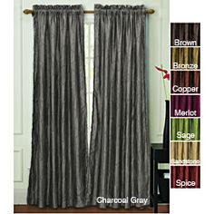 @Overstock.com - Nathan Lined Blackout  84 inch Curtain Panel - Block out 99 percent of light in bedrooms, media rooms, and wherever else you need with these attractive grommet curtain panels. You will sleep better at night in the darkness these panels create. Choose from a variety of colors to match your decor.  http://www.overstock.com/Home-Garden/Nathan-Lined-Blackout-84-inch-Curtain-Panel/6997320/product.html?CID=214117 $20.24