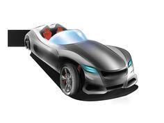 Mercedes roadster concept on Behance