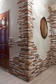 15 Artistic Stacked Stone Wall to Catch Your Attention Rustic Contemporary, Modern Rustic, Stacked Stone Walls, Faux Stone Walls, Stacked Stones, Stone Wall Design, Wall Decor, Room Decor, Trendy Home