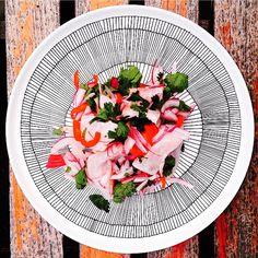 @KiitosMarimekko: Photo 1 of 3. Siirtolapuutarha Dinnerware Collection. Items available at http://kiitosmarimekko.com/products/siirtolapuutarha-dinner-plate-black-white