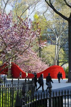 Red, Yellow and Blue: Orly Genger's installation at Madison Square Park