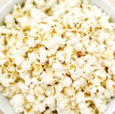 "Coconut ""Carmel"" Popcorn- with honey, vanilla, sea salt and coconut oil. ""So so so good. Even sweeter than regular caramel corn but without all the sugar!"""