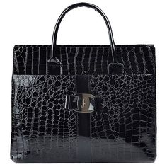 Stylish Women's Tote Bag With Embossing and Metal Design