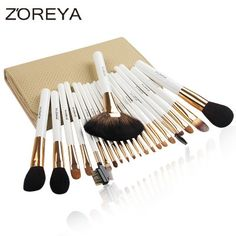 (49.99$)  Know more  - 22Pcs/set Cosmetic Makeup Brush Women Foundation Lip Eyeshadow Eyeliner Make Up Pincel Maquiagem Eye Brush Set With Case Bag