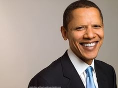 Barack Obama once again without eyebrows