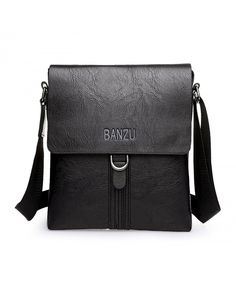 b01d658ca50c Unisex PU Leather Casual Shoulder Bag Cross-body Bag Messenger Bag For iPad  - Black