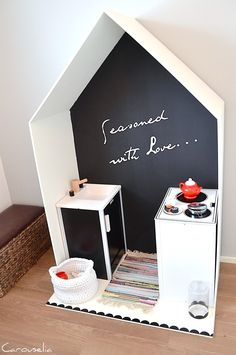 DIY play kitchen, tee-se-itse leikkikeittiö