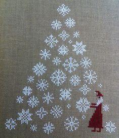 The Prairie Schooler Xmas Cross Stitch, Cross Stitch Christmas Ornaments, Christmas Embroidery, Christmas Cross, Cross Stitch Charts, Cross Stitch Designs, Cross Stitching, Cross Stitch Patterns, Christmas Tree