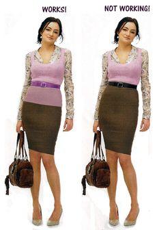 Short waisted skirt