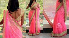 baby pink saree from varuni gopen saree collection