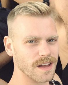 Youef saved to Moustache cuts Mustache Styles, Beard No Mustache, Ginger Men, Ginger Beard, Moustaches, Hairy Men, Bearded Men, Guys Grooming, Male Pattern Baldness