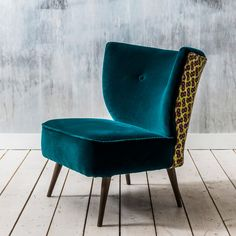 Alpana Teal Velvet Chair