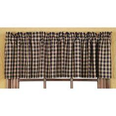 VHC Brands Bingham Star Plaid Lined Curtain Valance